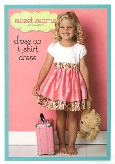 PATTERN Sweet Seams T-Shirt Dress Pattern. $7.95, via Etsy.