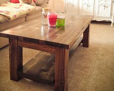 End Table Solid Wood Farmhouse End Table Rustic End Table Rustic Sofa Tables, Wood Sofa Table, Farmhouse End Tables, Rustic Kitchen Tables, Reclaimed Wood Coffee Table, Solid Wood Table, Into The Woods, Crate And Barrel, Pottery Barn Style