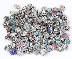 free shipping wholesale 20pcs/lot mix styles colors 12mm small button snap jewelry interchangeable ginger snap button charm