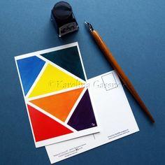 Limited Edition Postcard - Balanced Colours #2 - Abstract Mini Art Print