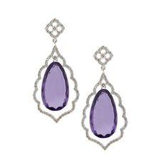 Amethyst and diamond earrings by Christian Tse