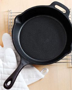 How to Reseason a Cast Iron Skillet. Going to get this all ready for Nate. I'm surprising him with a bunch of kitchen stuff he wanted :)
