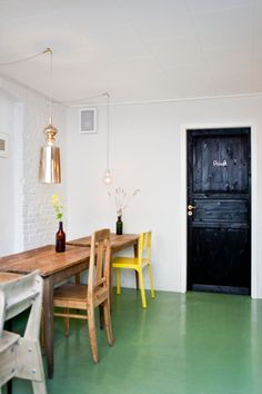 Restaurant Visit: Mikkeller Bar in Copenhagen - Remodelista Home Design, Interior Design, Interior Door, Design Design, Turbulence Deco, Tadelakt, Epoxy Floor, Painted Floors, Painted Wood