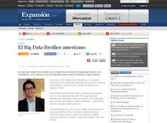 """Mi artículo de opinión para Expansión: """"El Big Data Brother Americano"""". Tenéis el artículo íntegro aquí: http://www.expansion.com/2014/01/29/juridico/1391022505.html"""