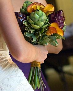 artichoke heart bouquet by Maria Sharron., via Flickr