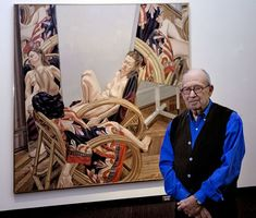 Philip Pearlstein Visual Artist | Philip Pearlstein is pictured with his 1982 oil painting Two Models ...