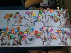 Trace kiddo's hand and make fingers longer for branches School Art Projects, Art School, School Craft, Art For Kids, Crafts For Kids, Arts And Crafts, Creative Activities, Art Activities, Kandinsky Art