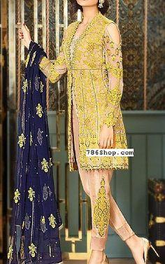 Peach/Yellow Chiffon Suit   Buy Asim Jofa Pakistani Dresses and Clothing online in USA, UK