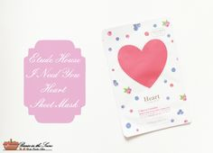 Review: Etude House I Need You Heart Sheet Mask