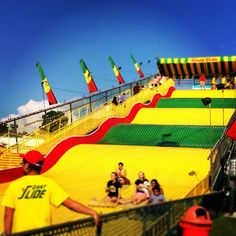 A must-do at the Minnesota State Fair? The Giant Slide! What's your favorite fair ride? Minnesota State Fair, Minnesota Home, Valley Fair, Fair Rides, White Bear Lake, Carnival Rides, County Fair, Twin Cities, Amusement Park