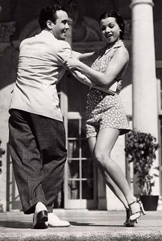 A gorgeous young couple Lindy Hop in 1935. #vintagephoto #dancing