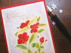 Pinta una tarjeta de flores con acuarelas, paso a paso - YouTube