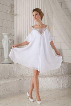 Schatz Chiffon Weiß Formale Kleider kv2050 - Silhouette: A-Line; Stoff: Chiffon, Verzierungen: Beading, Länge: Knielang - Price: 158.0400 - Link: http://www.kleiderverkaufen.de/schatz-chiffon-weiss-formale-kleider-kv2050.html