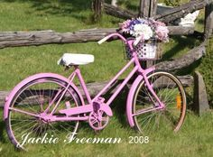 A pink bike, with a basket.  I would likely look silly, but I have always wanted one.