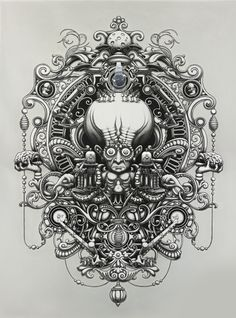 The Herd - 2012 by Joe Fenton, via Behance     A truly talented and hard-working artist. An incredible piece of work. There is so much to see, the shading is so sumptuous! Love it!!
