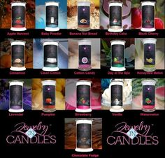 Wide selection of soy candles