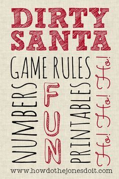 Although it's name might suggest otherwise, the Dirty Santa Gift Exchange is a family friendly game! It is called dirty because game participants steal gifts from each otherin the attemptto end up with the best possible gift. Gifts for Dirty Santa are typicallysomething fun, new, unique, and in good taste. Check out these $10 Dirty […]