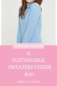 12 sustainable, ethical, fair trade sweaters under $150 from sustainable, ethical, conscious fashion brands. These sweaters work great in capsule wardrobes too! #sweaterweather #sweaters #casulewardrobe #under100 #sustainablefashion #fairtradefashion Fast Fashion, Slow Fashion, Fashion Outfits, Fashion Tips, Sustainable Clothing, Sustainable Fashion, Preppy Style, Classy Style, Ethical Fashion Brands
