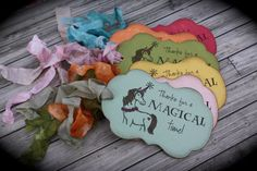 Magical UNICORN thank you tags....set of 5 by kutekardz on Etsy, $14.95