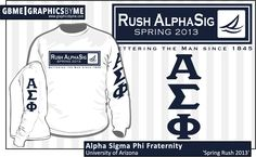 THIS IS A GREAT IDEA FOR MIAMI!  GBME mockup for Alpha Sigma Phi Fraternity at the University of Arizona for spring 2013 rush