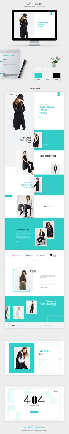 Website design from http://keithhoffart.weebly.com/contact.html Product Landing Page Concept.... Zara