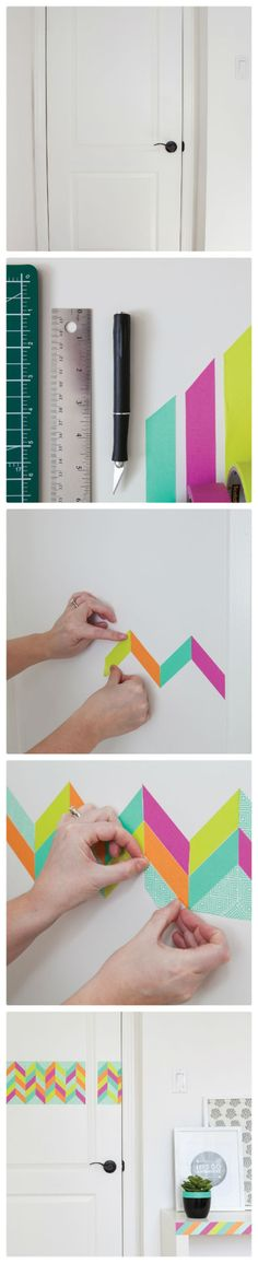 Brighten up your home with washi tape! via scotch