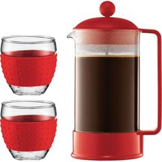 Bodum Brazil French Press Coffee Maker Red ** Click on the image for additional details.