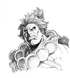 AKUMA - Sketch For Japan by *alvinlee