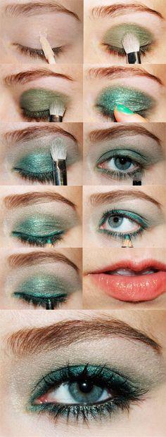 Emerald Green Makeup Look! #Emerald #Makeup #Eyes #Pantone