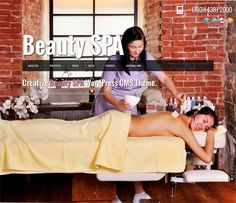 This WordPress themes for spas and beauty salons has a fullscreen background jQuery slider, Ajax page loading, a responsive layout, support for Google Fonts, jQuery animated pages, a portfolio slider, and more.