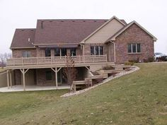 This collection of walkout basement house plans displays a variety