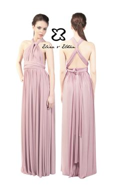 Eliza and Ethan - Multiway - Infinity - Bridesmaids Dresses - OneSize - Maxi MultiWrap Dress Color: Dusty Rose