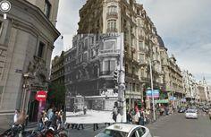 Calle Fuencarral (1937). Coleccion de la Biblioteca Nacional.. Montajes fotográficos de Sebastian Maharg
