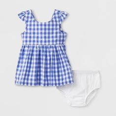 ff1c575374 Baby Girls  Gingham Dress - Cat   Jack™ Blue 6-9M