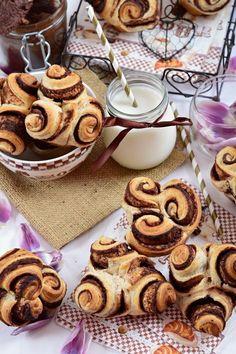 Csokoládés-mogyorókrémes muffinrózsa