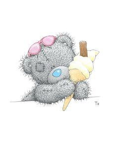 Tatty Teddy met ijsje