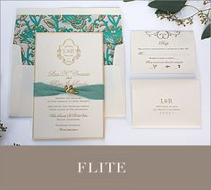 Romantic wedding invitation from Flite Design Studio | junebugweddings.com