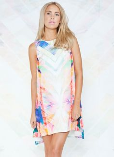 same Direction Dress by Finders Keepers (AUD $100.00) - Finders Keepers Same Direction Dress is a amazing dress For all occasions. The Finders Keepers Same Direction Dress features a neon style print with a slightly cropped front hem line. Fully lined with an Invisible zip.