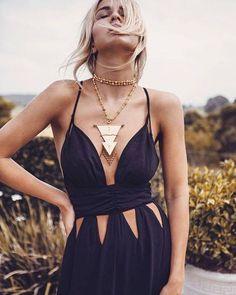 black stylish dress