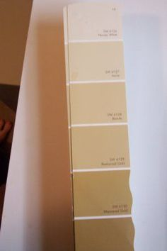 Sherwin-Williams Paint Color Swatches   heart this Sherwin Williams paint swatch-gold tones