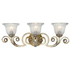 This gracefull bathroom wall light from Kathy Ireland features a hand-applied silver finish. Style # at Lamps Plus. Vanity Lighting, Home Lighting, Bathroom Lighting, Wall Lighting, Bathroom Scones, French Country Lighting, Master Bath Remodel, Bathroom Wall Sconces, Kathy Ireland
