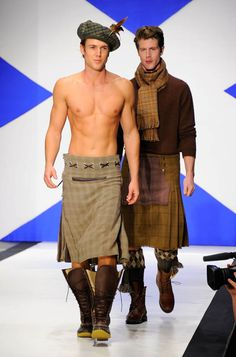 """Photo Gallery: """"Dressed to Kilt"""" Men Show Some Leg. And Heart!   AfterElton.com"""