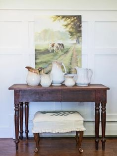Wainscoting wall treatments are a classic way to add architectural interest to any room. Consisting of horizontal rails and vertical stiles, this relatively easy woodworking project is based on a design found in historic homes, and is sure to lend old-home charm to builder-basic new spaces.