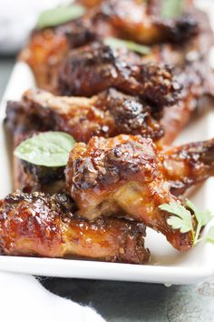 These Honey Teriyaki Chicken Wings are really easy to make with only 4 ingredients - the perfect late afternoon snack or early dinner.