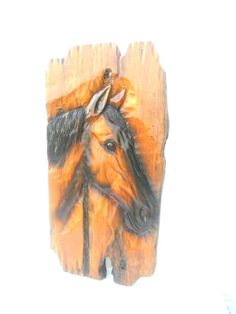 """Horse Head Wood Carving Natural Teak Wood Hand Carved Horse Head Rustic Driftwood Reclaimed Wall Hanging Home Art Decor / Gift 21"""" X 10.5"""" by WoodCarvingArt on Etsy"""