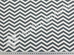 Michas Stoffecke - Stretchjersey ZickZack grau-weiß S-PT962020-45