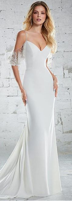 Charming Tulle & Acetate Satin Spaghetti Straps Neckline Mermaid Wedding Dress With Beaded Embroidery