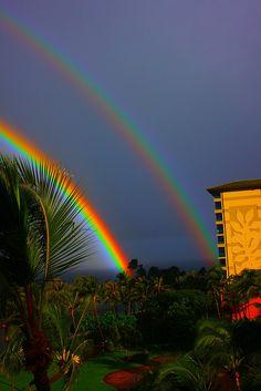Departing Rainbow  Taken by Nick Hamann in Lahaina Maui, HI