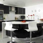 elegant half round dining table for dining room  design ideas :)