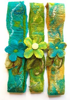 LiME GrEEN FaERY FLoWER HeADBAND Nuno Wet Felted by BeachsideBits, $45.00